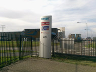 Onverlichte reclamezuil Dordrecht
